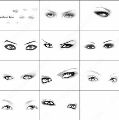 Кисти для фотошопа глаза и ресницы